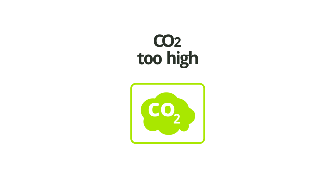CO2 LEVEL TOO HIGH