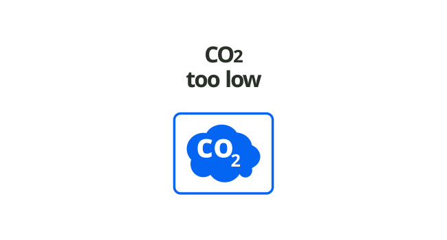 CO2 LEVEL TOO LOW