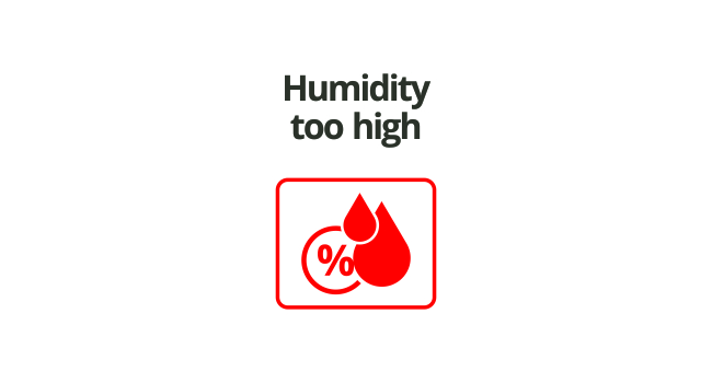 Humidity to high